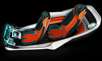 Futuristic flying car interior