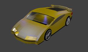 spor araba 3D model