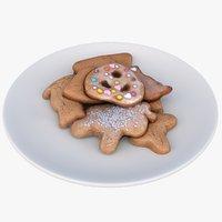 christmas cookies 3D model