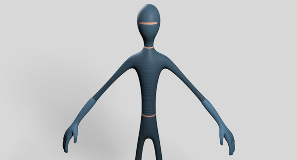 slim hero character 3D model