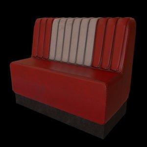 3D diner seating