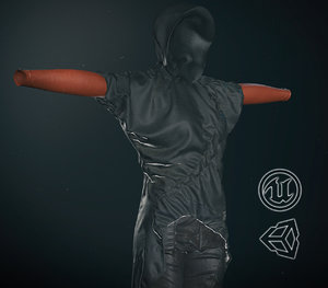 post apocalyptic female clothing 3D