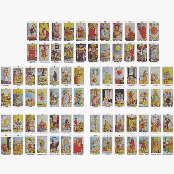 3D deck tarot cards