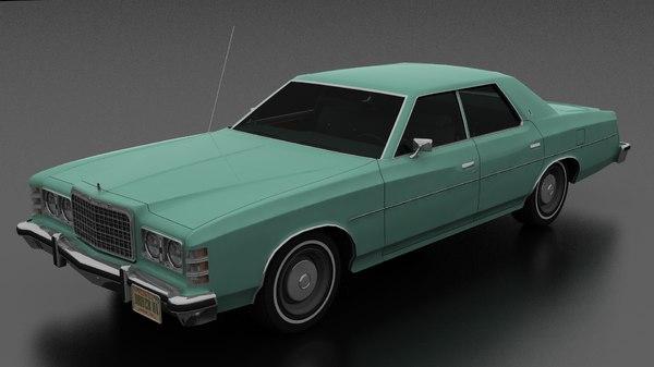 4dr 1975 3D model