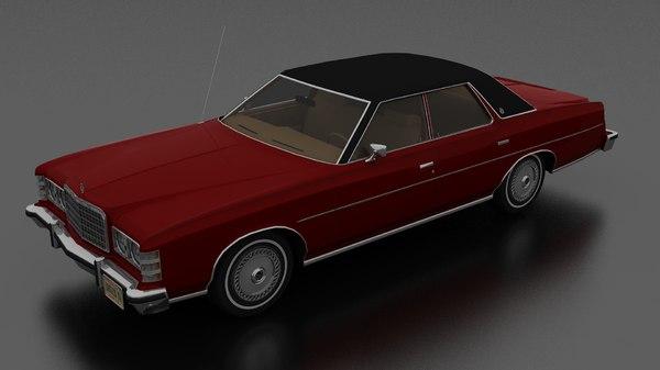 brougham 4dr 1975 model