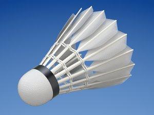 3D badminton shuttlecock sport model