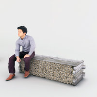 3D bench stone model