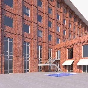 redbrick facade 3D model