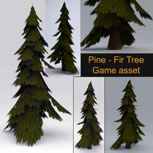 pine tree fir 3D