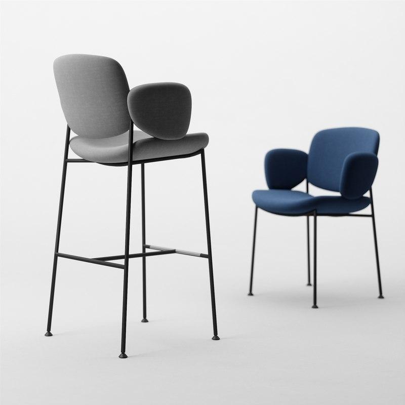 Armet Macka Armchair Stool Chair Model Turbosquid 1354686