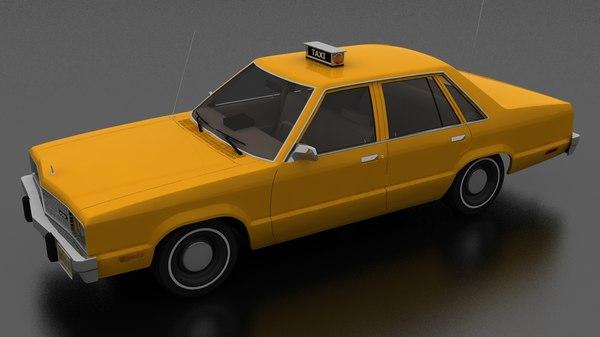 fairmont 4dr 1978 taxi 3D model