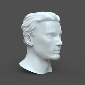 3D male head cad model