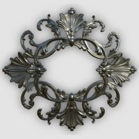 3D baroque ornament model