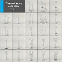 vases table centerpieces 3D model