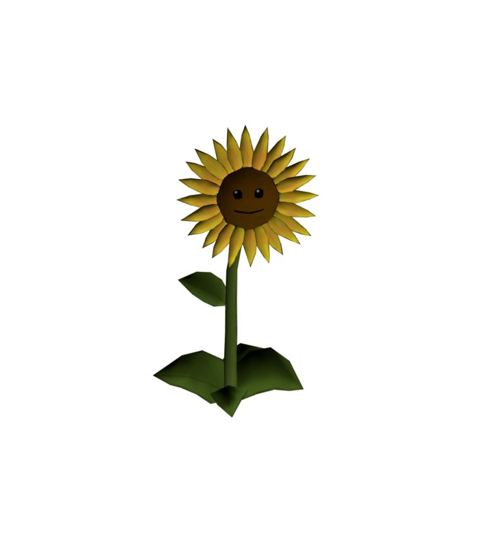3D sun flower plants