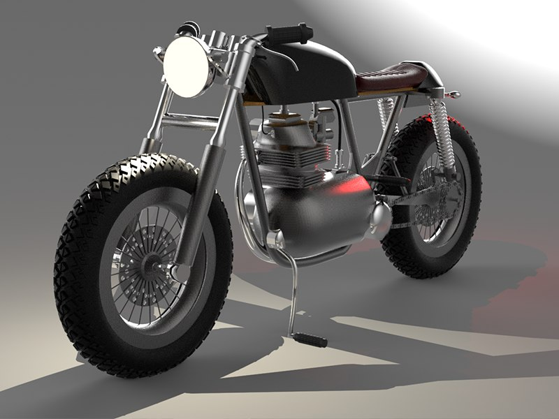 3D caferacer motorcycle model