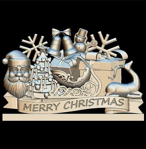3D model merry christmas santa claus