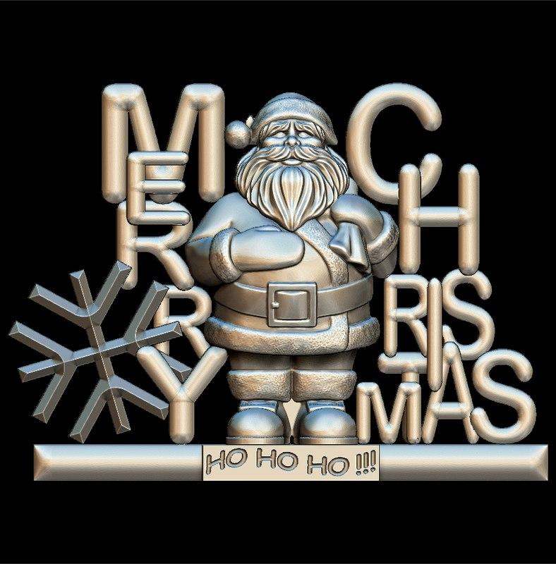 merry christmas santa claus 3D