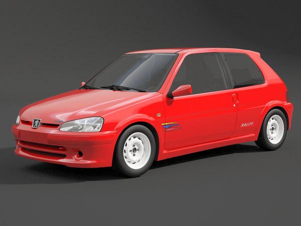 106 rallye peugeot 3D model