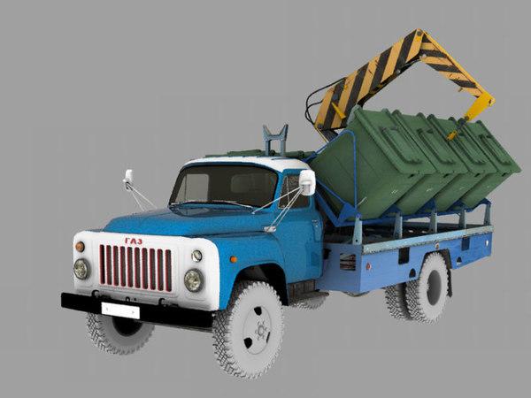 container dump 3D model