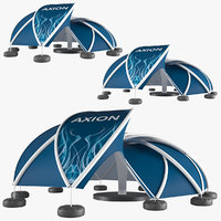 3D axion tents flower inflatable