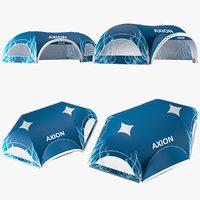 3D axion tents hexa inflatable model