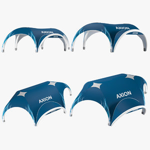 3D axion tents hexa inflatable model