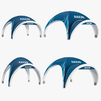 3D axion tents lite inflatable
