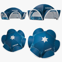 3D axion tents spider inflatable