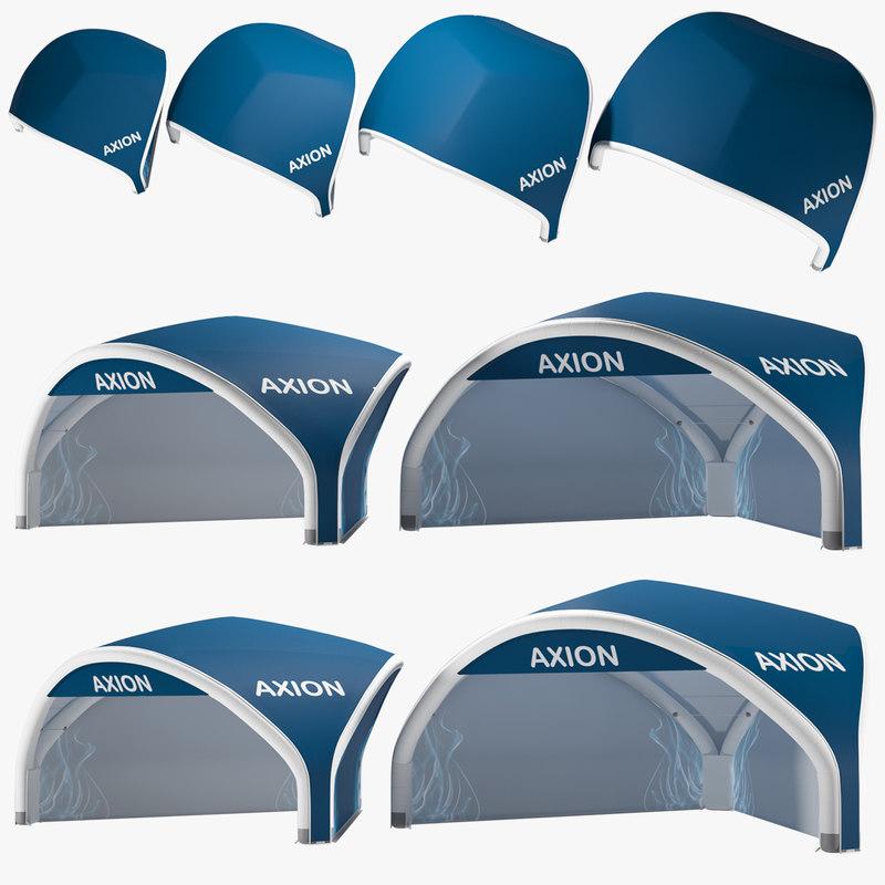 axion tents tripod inflatable 3D