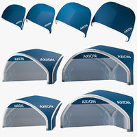 axion tents tripod inflatable 3D