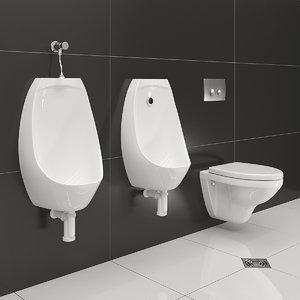 urinal rosa toilet 3D model