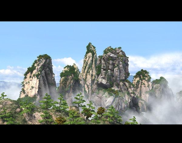 mountains peaks 3D
