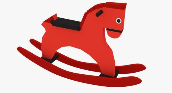 3D simple rocking horse model
