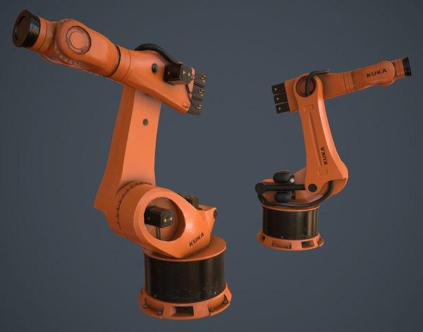3D kuka robot low-poly
