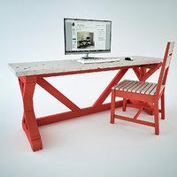 3D fancy x desk