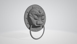 chinese door knob handle 3D model