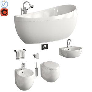 toilet villeroy boch aveo 3D model