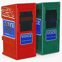 newspaper box new 3D model