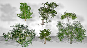 3D trees pack 01