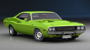dodge challenger 1970 interior 3D model