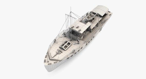 passenger boat 3D model