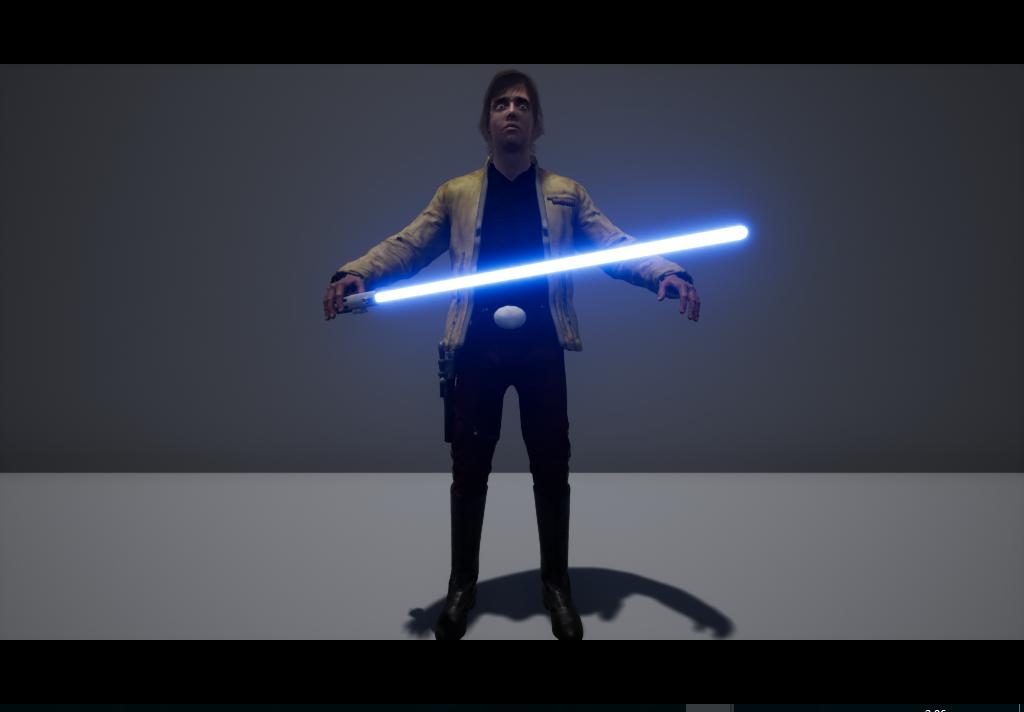 luke skywalker yavin model