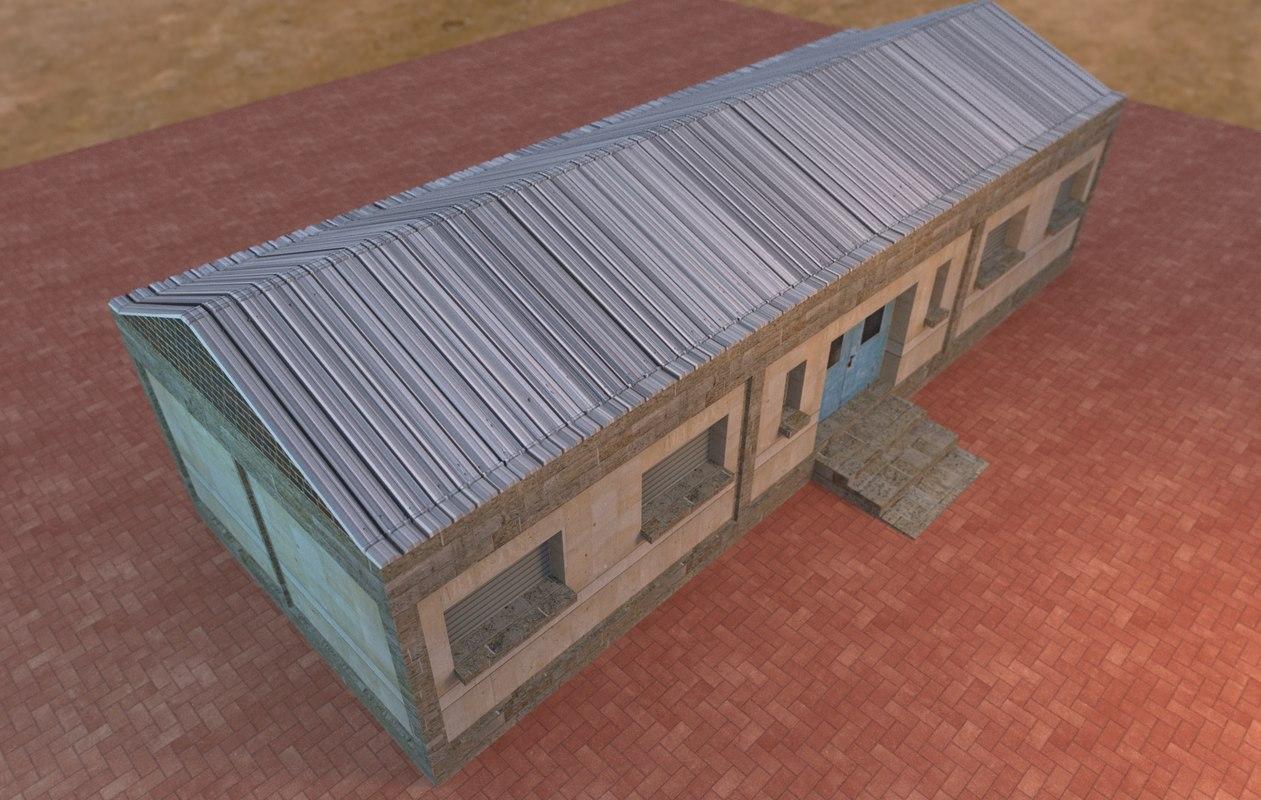 military base building model