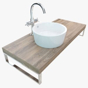 bathroom washbasin plate 3D model