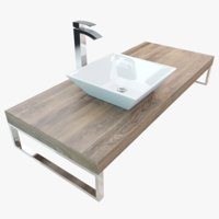 3D bathroom washbasin plate model