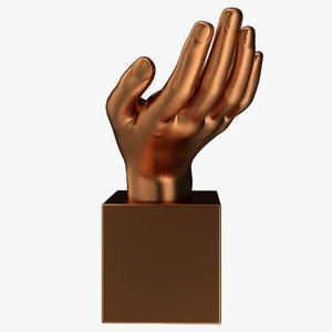 copper mask statuette 3D