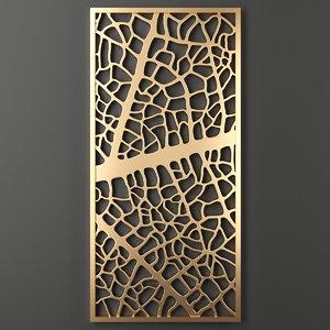 3D decorative panel