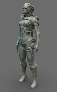 3D ethion - female engineer model