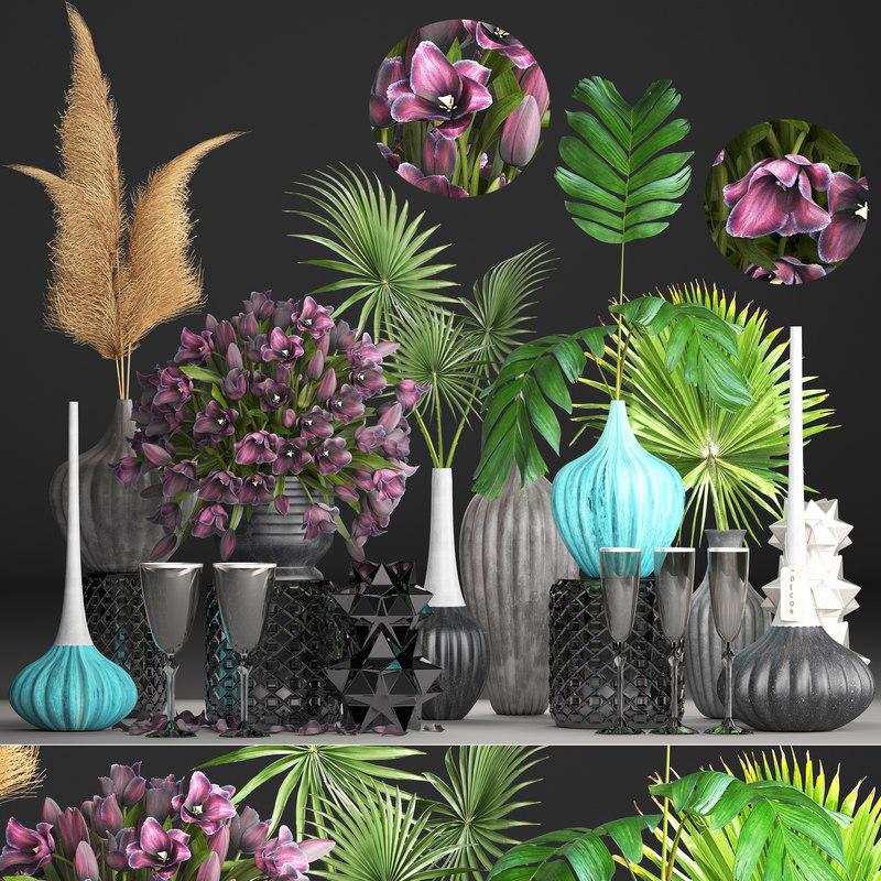 flower bouquets 3D model